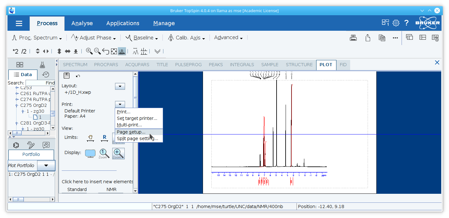Processing NMR Spectra with TopSpin 4 0